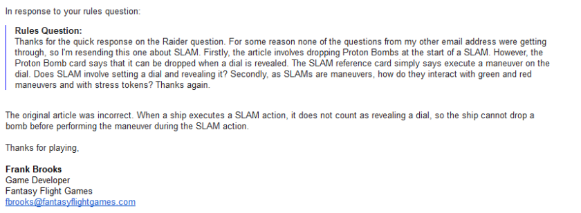 Slam action