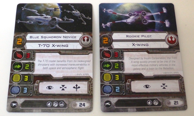 Old X-Wing vs. new X-Wing